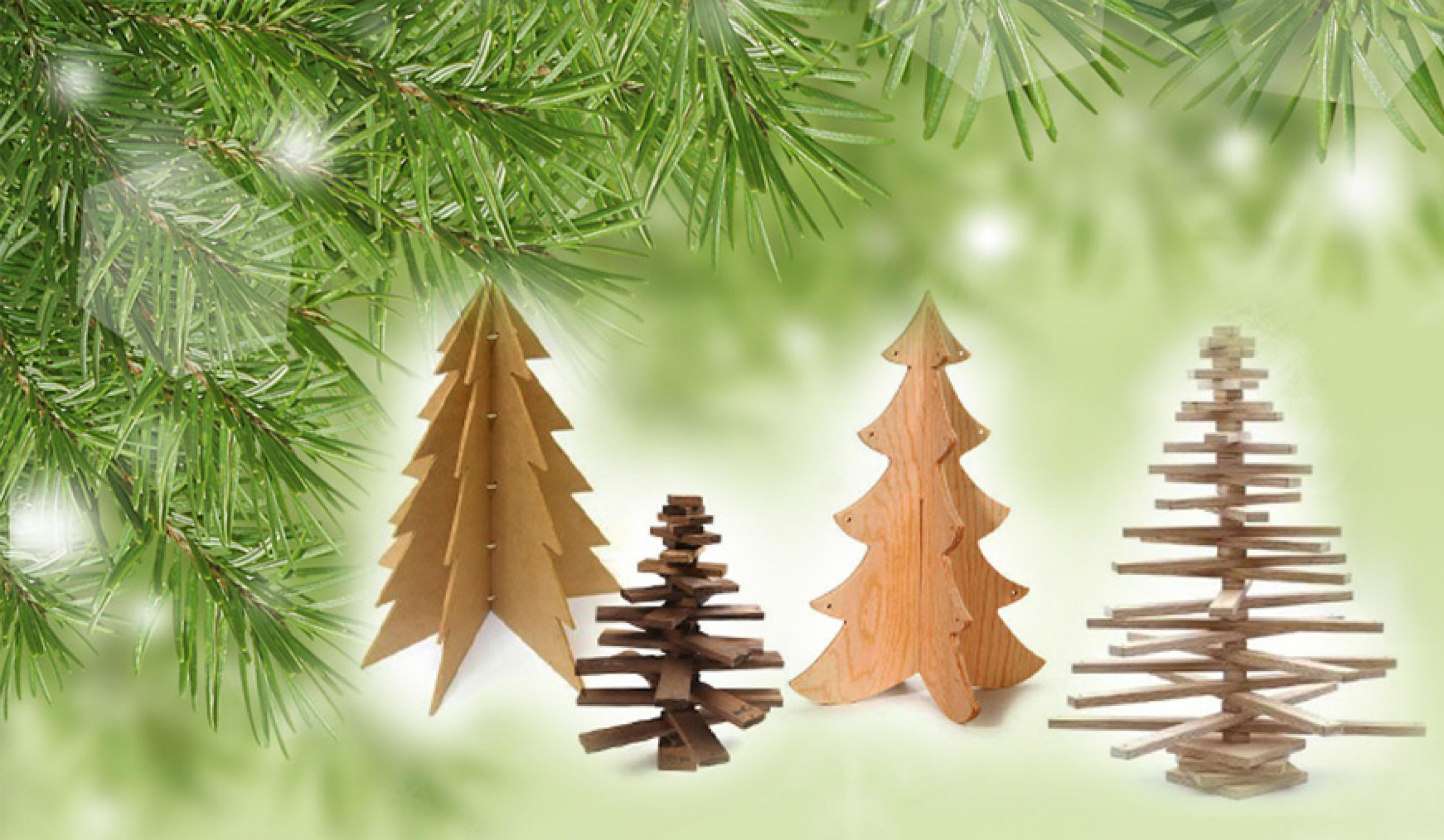 Hoe maak je een houten kerstboom?