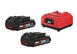 SKIL Accu's ('20V Max' (18 V) 2,0 Ah 'Keep Cool™' Li-Ion) en oplader