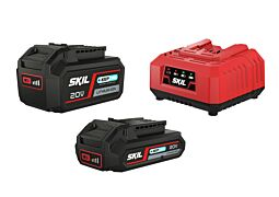 SKIL Accu's ('20V Max' (18 V) 2,0 en 4,0 Ah 'Keep Cool™' Li-Ion) en oplader