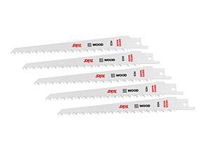 SKIL Set van 5 HCS zaagbladen voor hout