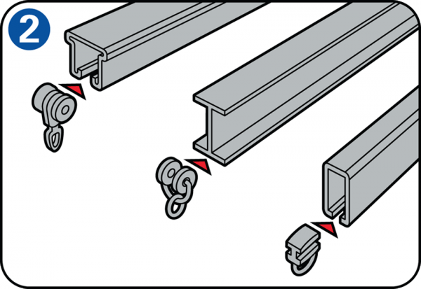 Gordijnrail ophangen en gordijnen monteren for Rieles para toldos de techo