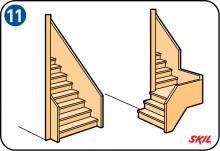 Poppenhuis maken - Buitenste trap ...